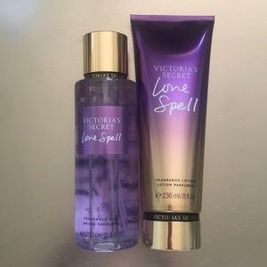 Victoria's Secret LOVE SPELL Fragrance & Lotion